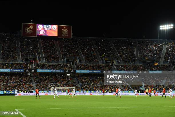 General view of the stadium during the international friendly match between Spain and Costa Rica at La Rosaleda Stadium on November 11 2017 in Malaga...