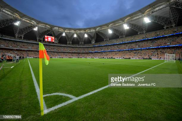 general view of the stadium during the Italian Supercup match between Juventus and AC Milan at King Abdullah Sports City on January 16 2019 in Jeddah...