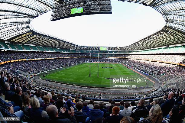 General view of the stadium during the Killic Cup match between the Barbarians and Australia Wallabies at Twickenham Stadium on November 1 2014 in...