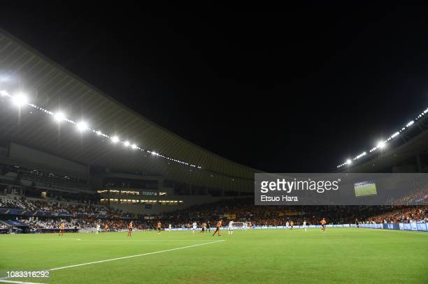 General view of the stadium during the match between ES Tunis and Al Ain on December 15 2018 in Al Ain United Arab Emirates