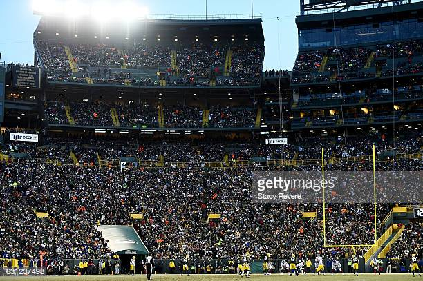 A general view of the stadium during the NFC Wild Card game between the Green Bay Packers and the New York Giants at Lambeau Field on January 8 2017...