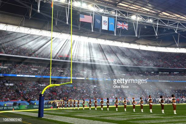 General view of the stadium during the NFL International Series match between Tennessee Titans and Los Angeles Chargers at Wembley Stadium on October...