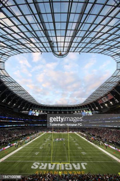General view of the stadium during the NFL London 2021 match between Miami Dolphins and Jacksonville Jaguars at Tottenham Hotspur Stadium on October...