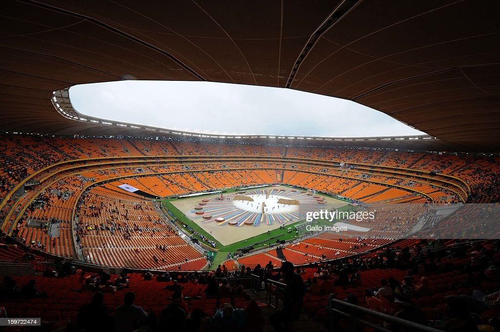 A general view of the stadium during the opening ceremony of the 2013 African Cup of Nations at the National Stadium on January 19, 2013 in Johannesburg, South Africa.