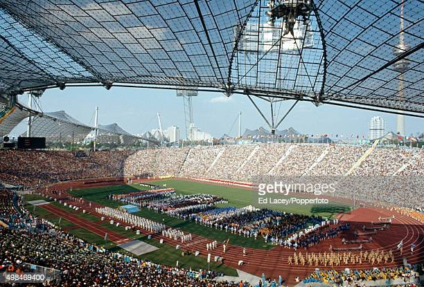A general view of the stadium during the Opening Ceremony of the Olympic Games in Munich Germany on 26th August 1972