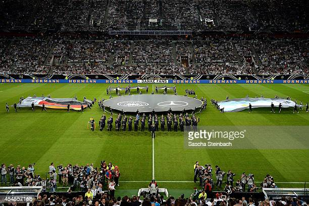 A general view of the stadium during the opening ceremony prior to the international friendly match between Germany v Argentina at EspritArena on...
