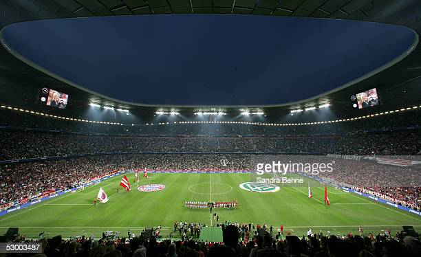General view of the stadium during the opening game of the Allianz Arena between Bayern Munich and German Football National Team at the Allinaz Arena...