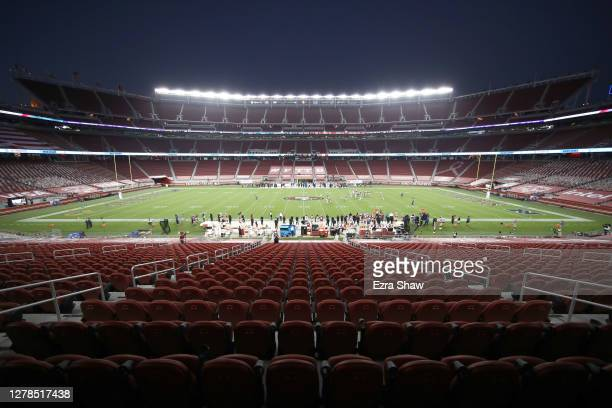 General view of the stadium during the Philadelphia Eagles v San Francisco 49ers game at Levi's Stadium on October 04, 2020 in Santa Clara,...