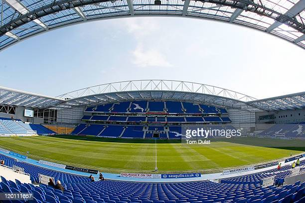 General view of the stadium during the Pre Season Friendly match between Brighton Hove Albion and Tottenham Hotspur at Amex Stadium on July 30 2011...