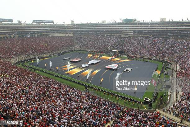 General view of the stadium during the pregame show prior to the final match of Copa CONMEBOL Libertadores 2019 between Flamengo and River Plate at...