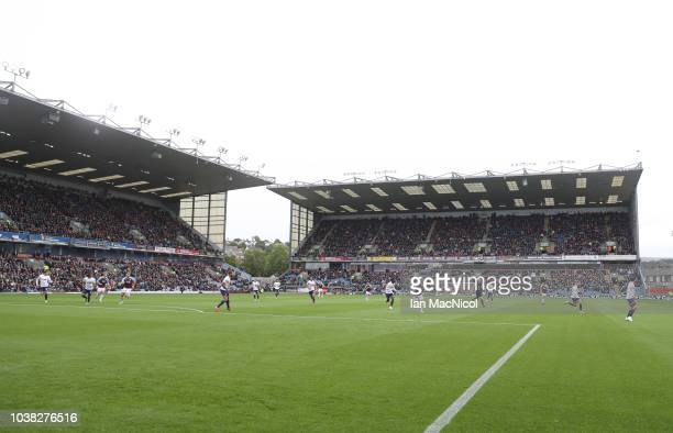 A general view of the stadium during the Premier League match between Burnley FC and AFC Bournemouth at Turf Moor on September 22 2018 in Burnley...
