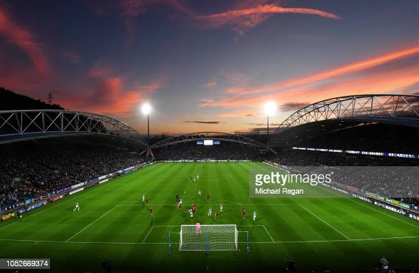 A general view of the stadium during the Premier League match between Huddersfield Town and Liverpool FC at John Smith's Stadium on October 20 2018...