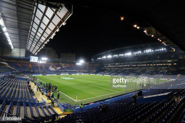 A general view of the stadium during the Premier League match between Chelsea and Arsenal at Stamford Bridge London on Tuesday 21st January 2020