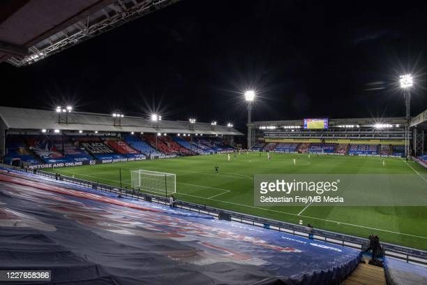 general view of the stadium during the Premier League match between Crystal Palace and Manchester United at Selhurst Park on July 16 2020 in London...