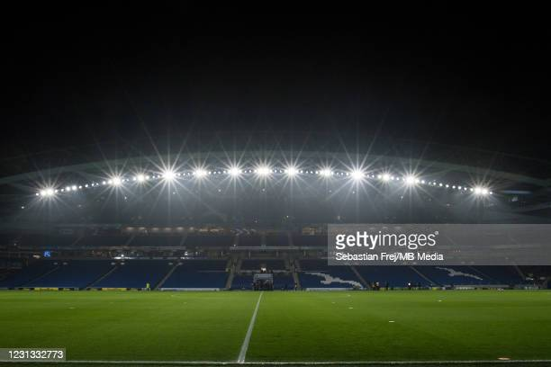 General view of the stadium during the Premier League match between Brighton & Hove Albion and Crystal Palace at American Express Community Stadium...