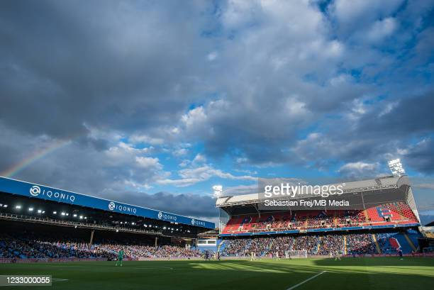 General view of the stadium during the Premier League match between Crystal Palace and Arsenal at Selhurst Park on May 19, 2021 in London, United...
