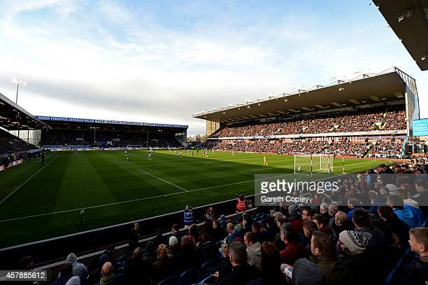 A general view of the stadium during the Premier League match between Burnley and Everton at Turf Moor on October 26 2014 in Burnley England