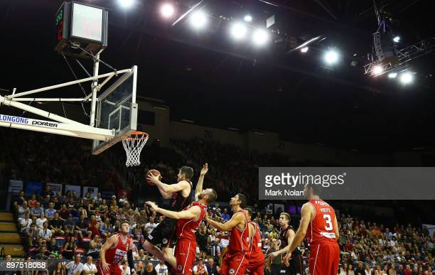 General view of the stadium during the round 11 NBL match between the Illawarra Hawks and the Perth Wildcats at Wollongong Entertainment Centre on...