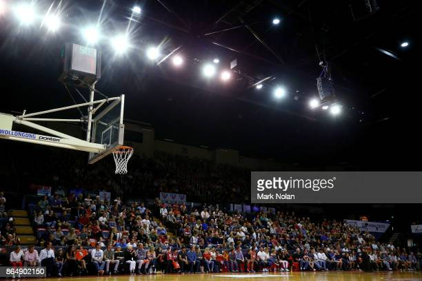 General view of the stadium during the round three NBL match between the Illawarra Hawks and the Brisbane Bullets at Wollongong Entertainment Centre...