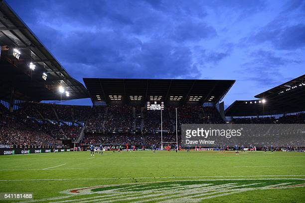 General view of the stadium during the Rugby Top 14 League semi final match between RC Toulon and Montpellier on June 18 2016 in Rennes France