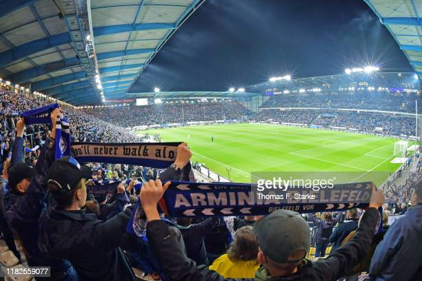 A general view of the stadium during the Second Bundesliga match between DSC Arminia Bielefeld and Hamburger SV at Schueco Arena on October 21 2019...