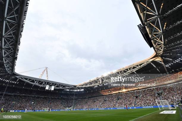 General view of the stadium during the serie A match between Juventus and SS Lazio on August 25 2018 in Turin Italy