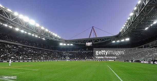 A general view of the stadium during the Serie A match between Juventus FC and Novara Calcio at Juventus Arena on December 18 2011 in Turin Italy