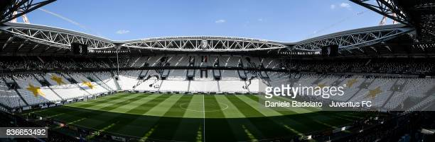 general view of the stadium during the Serie A match between Juventus and Cagliari Calcio at Allianz Stadium on August 19 2017 in Turin Italy