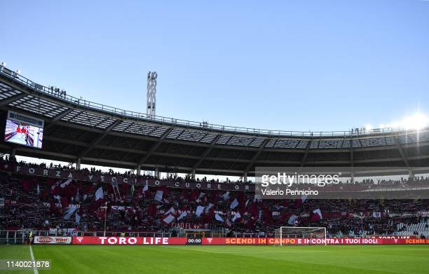 A general view of the stadium during the Serie A match between Torino FC and AC Milan at Stadio Olimpico di Torino on April 28 2019 in Turin Italy