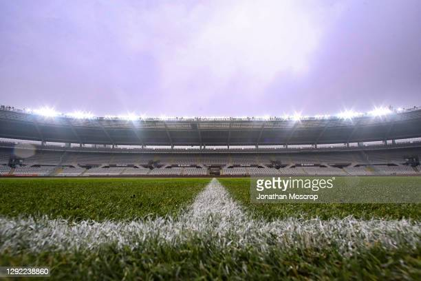 General view of the stadium during the Serie A match between Torino FC and Bologna FC at Stadio Olimpico di Torino on December 20, 2020 in Turin,...