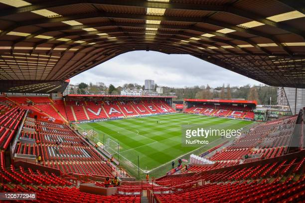 General view of the stadium during the Sky Bet Championship match between Charlton Athletic and Middlesbrough at The Valley London on Saturday 7th...