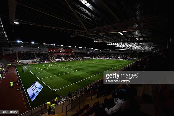 A general view of the stadium during the Sky bet Championship match between Rotherham United and Fulham at The New York Stadium on October 21 2014 in...
