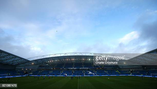 A general view of the stadium during the Sky Bet Championship match between Brighton Hove Albion and Fulham at The Amex Stadium on April 15 2016 in...