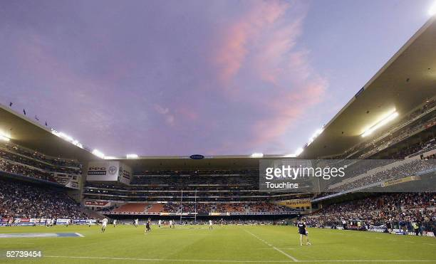 General view of the stadium during the Super 12 match between the Stormers and the Chiefs at Newlands Stadium on April 30, 2005 in Cape Town, South...