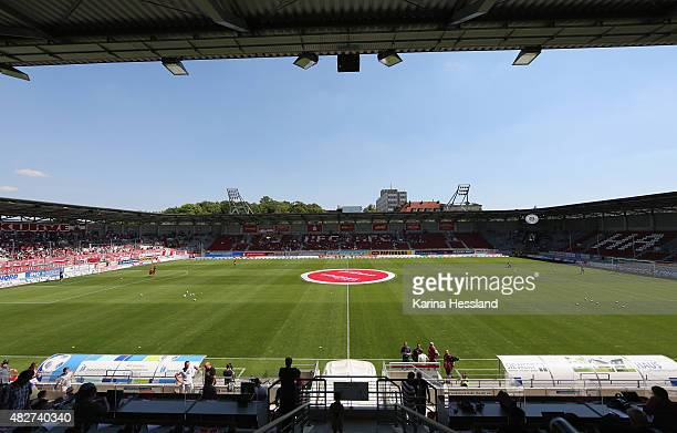 A general view of the stadium during the Third League match between Hallescher FC and Holstein Kiel at Erdgas Sportpark on August 02 2015 in Halle...