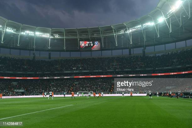 General view of the stadium during the Turkish Super Lig match between Besiktas and Istanbul Basaksehir at Vodafone Park on April 13 2019 in Istanbul...