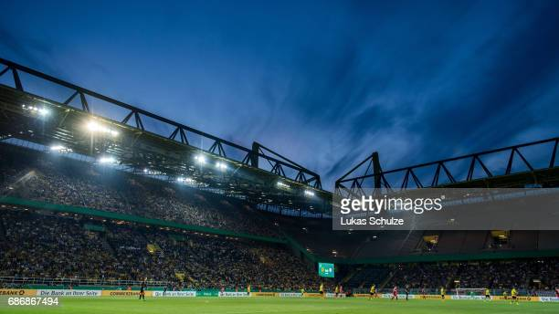 General view of the stadium during the U19 German Championship Final between Borussia Dortmund and FC Bayern Muenchen on May 22, 2017 in Dortmund,...