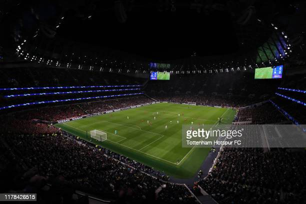 General view of the stadium during the UEFA Champions League group B match between Tottenham Hotspur and Bayern Muenchen at Tottenham Hotspur Stadium...