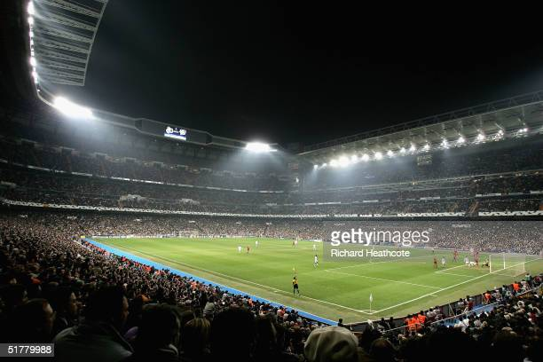 General View of the stadium during the UEFA Champions League Group B match between Real Madrid and Bayer Leverkusen, held at The Santiago Bernabeu...