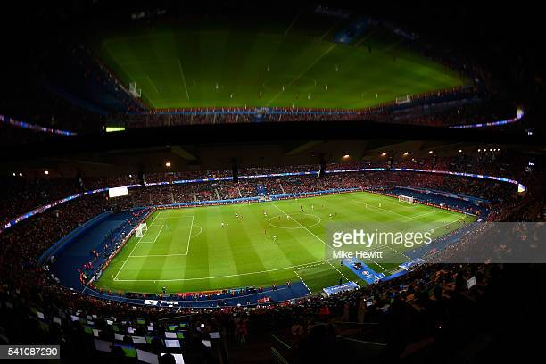 General view of the stadium during the UEFA EURO 2016 Group F match between Portugal and Austria at Parc des Princes on June 18, 2016 in Paris,...