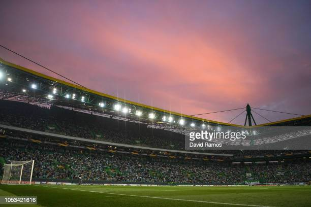 General view of the stadium during the UEFA Europa League Group E match between Sporting CP and Arsenal at Estadio Jose Alvalade on October 25 2018...