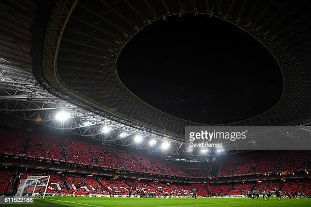 General view of the stadium during the UEFA Europa League Group F match between Athletic Club and SK Rapid Wien at San Mames stadium on September 29...