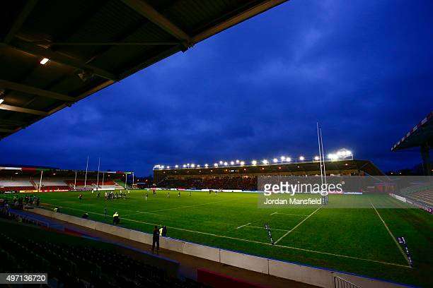 A general view of the stadium during the Women's International match between England v Ireland at Twickenham Stoop on November 14 2015 in London...