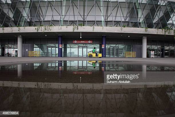 A general view of the stadium entrance to the National Stadium at Singapore Sports Hub on November 01 2014 in Singapore Another of the Sports Hub...