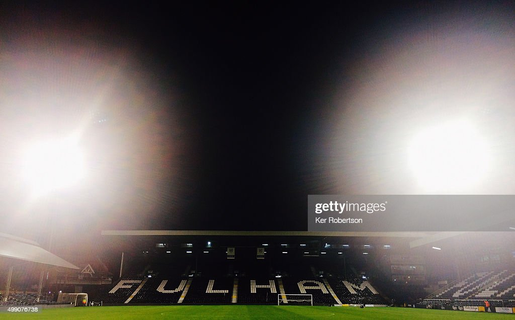 General view of the stadium following the Sky Bet Championship match between Fulham and Preston North End at Craven Cottage on November 28, 2015 in London, England.