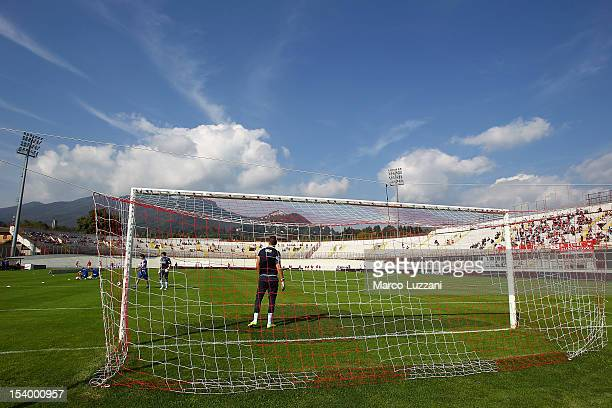 General view of the stadium Franco Ossola ahead of the Serie B match between AS Varese and Empoli FC at Stadio Franco Ossola on October 6, 2012 in...