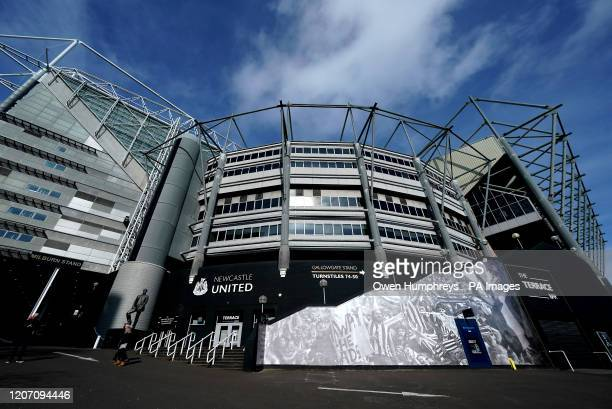 General view of the stadium from outside St James' Park, home of Newcastle United Football Club, following yesterday's announcement that the Premier...