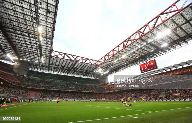 A general view of the stadium Giuseppe Meazza during the serie A match between AC Milan and Hellas Verona FC at Stadio Giuseppe Meazza on May 5 2018...