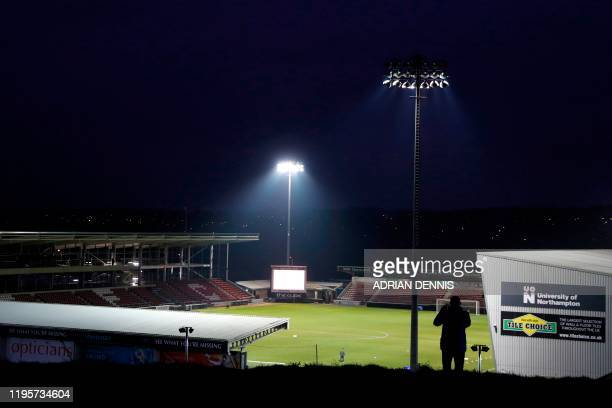 General view of the stadium is pictured prior to the English FA Cup fourth round football match between between Northampton Town and Derby County at...