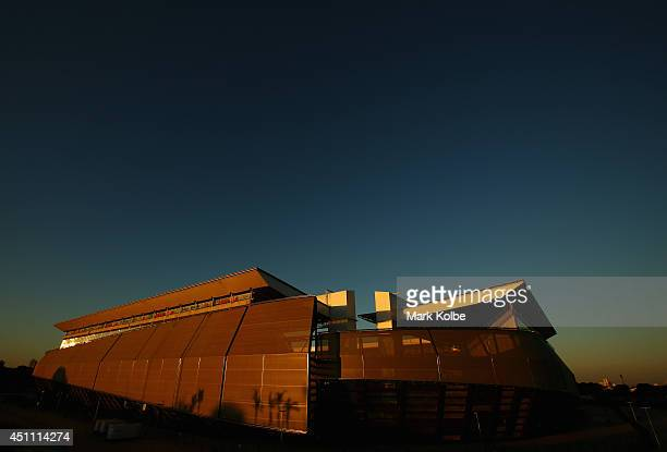 A general view of the stadium is seen after a Japan training session at Arena Pantanal on June 23 2014 in Cuiaba Mato Grosso